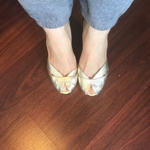 Mk gold shoes